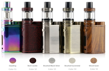 pico, istick, eleaf, mod, red, crackle, dazzling, rainbow, woodgrain, brushed, silver